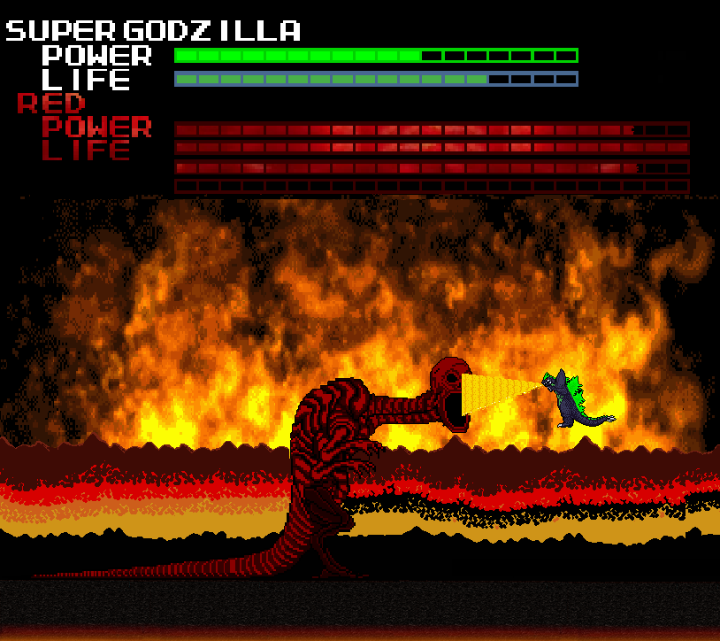 Super Godzilla Vs Final Red By Thunderstudent On Deviantart