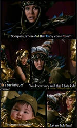 MMPR S1 Deleted Scene:  Goldar and Scorpina's baby by Thunderstudent