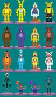 Fnaf Animatronics Revised