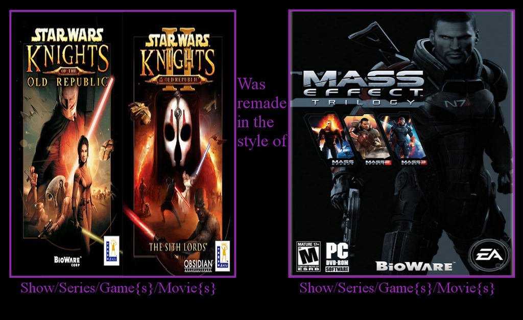 If Kotor 1 And 2 Were Remade In ME Syle gameplay? by