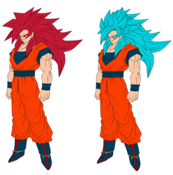 Goku SSG and SSGSS Redesign Concepts