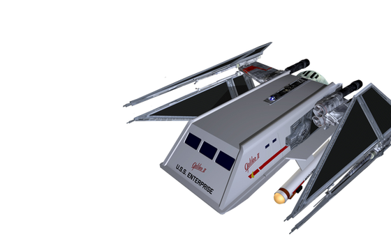 The type F-X-TIE ugly shuttle
