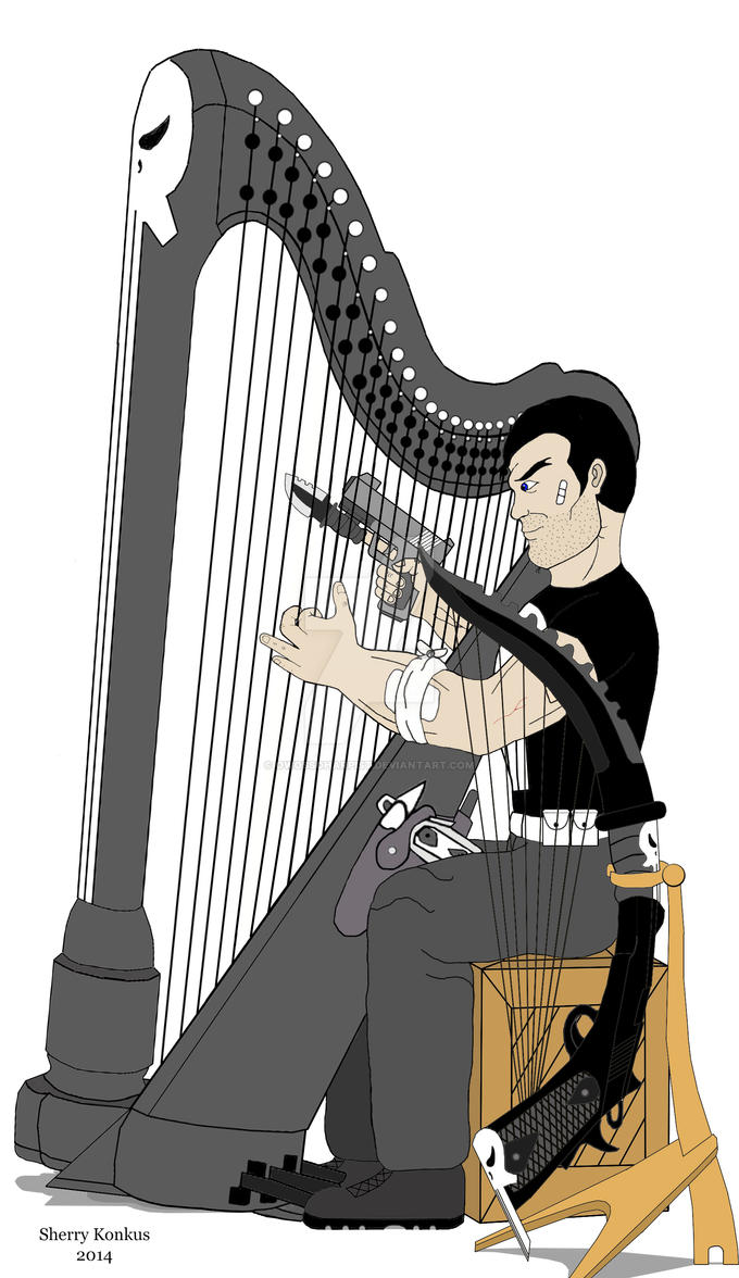 The Punisher with Comfort Lady and WarHarp by OwossoHarpist