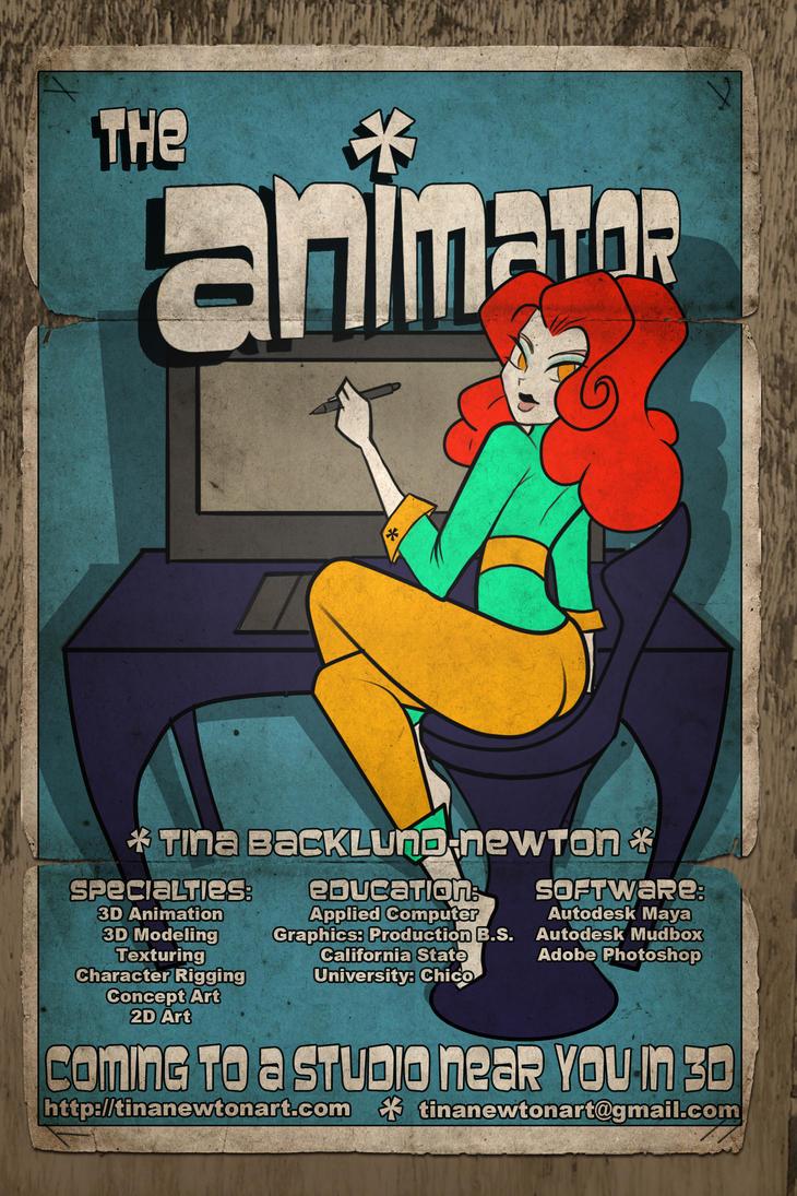 My Retro Toon Poster PinUp Resume by tinanewtonart