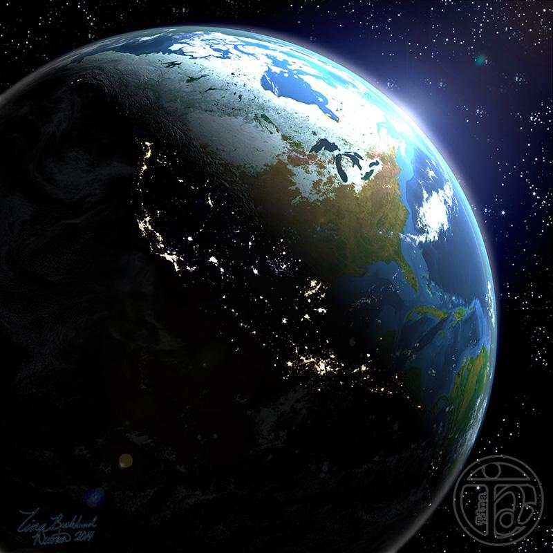 Earth 3D WIP by tinanewtonart