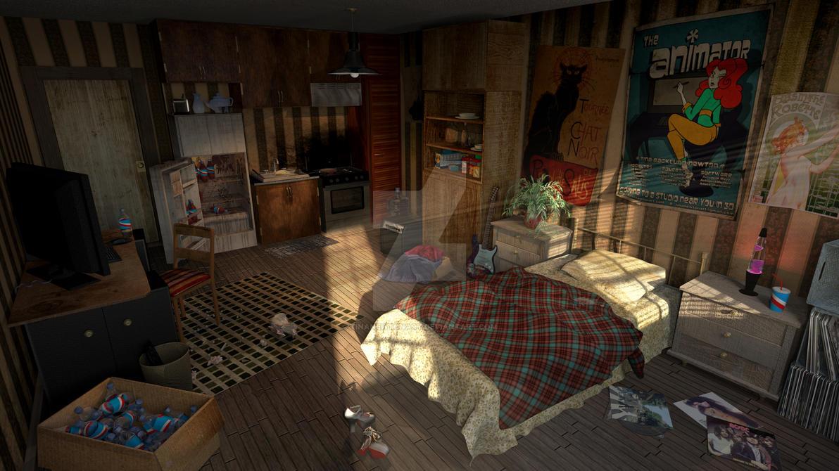 The Apartment by tinanewtonart