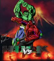 Hulk VS Hulk: Death Match by ruga-rell