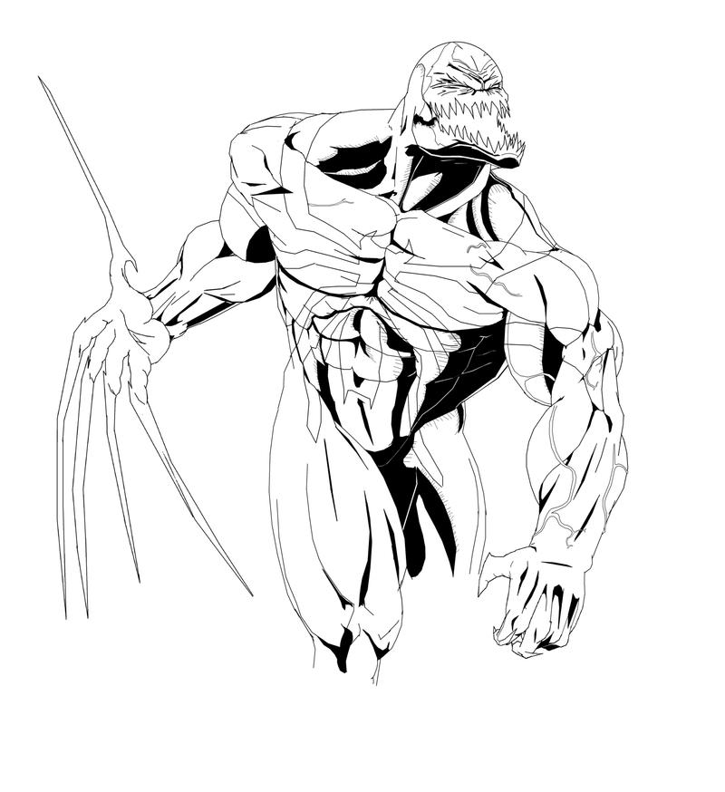 Venom Coloring Pages Lego Venom Spider Marvel Heroes: Anti-venom B_W By Ruga-rell On DeviantArt