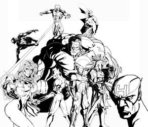 THE DARK AVENGERS with RULK by ruga-rell