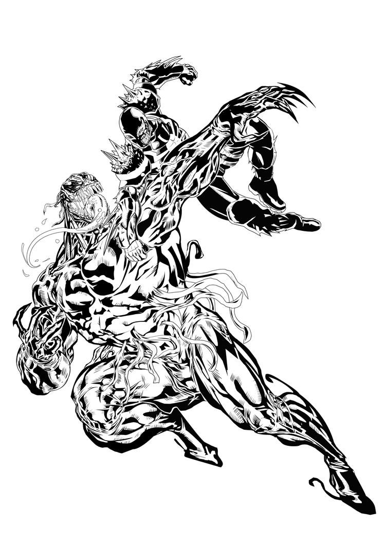 Venom Coloring Pages Lego Venom Spider Marvel Heroes: Toxin Vs Venom By Ruga-rell On DeviantArt