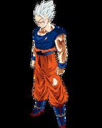 Super Saiyan (God) Mystic White Gohan. by ruga-rell