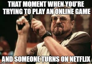 Online game interrupted!