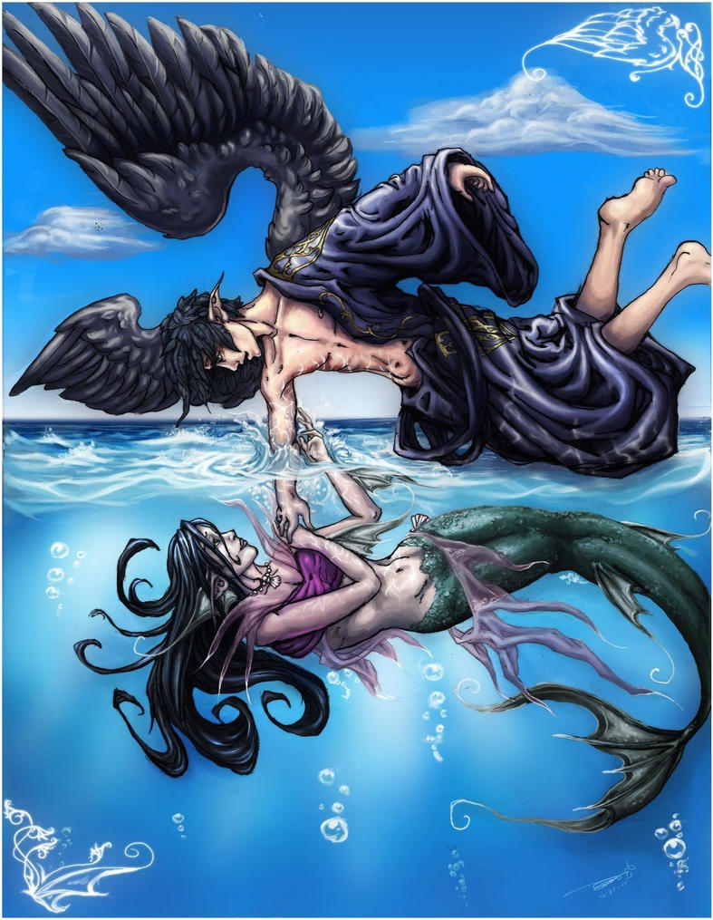 The bird and the fish by freakdearts on deviantart for I love the fishes