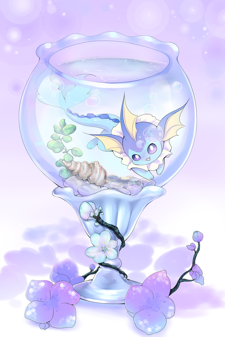 Bonsai Vaporeon by Joltik92