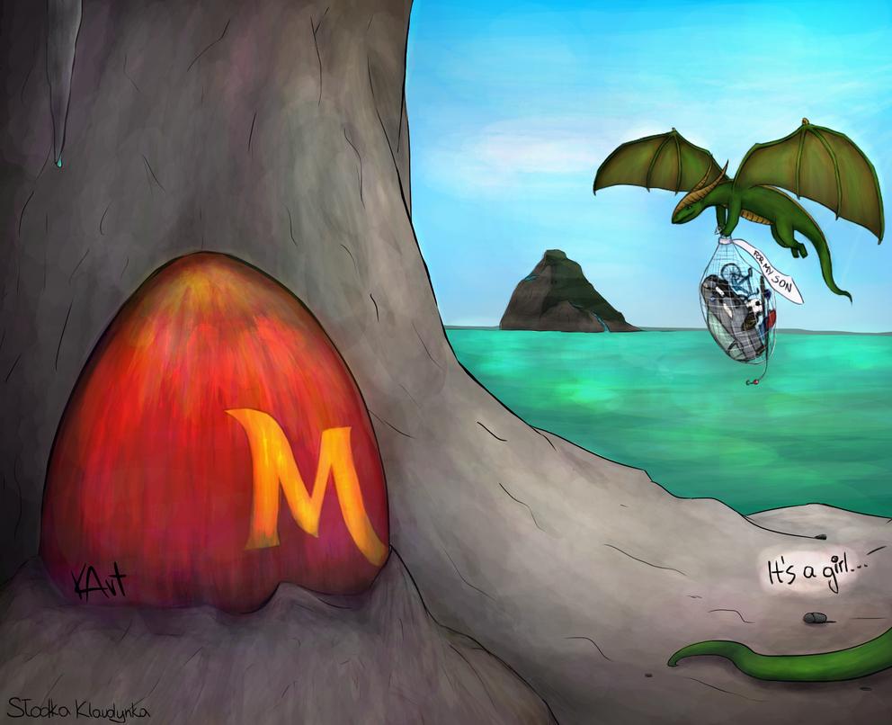 Dragon egg by KlaudynkaArt