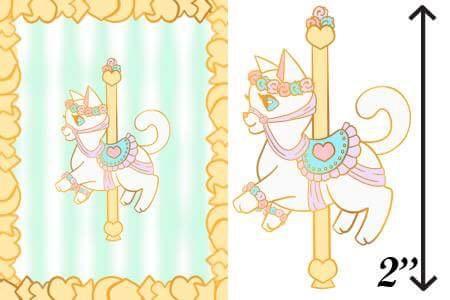 White Carousel Cat Enamel Pin by WhimzicalWhizkerz