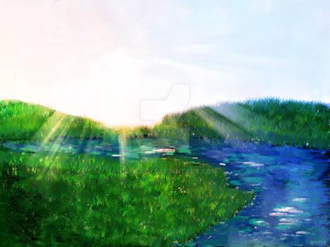 Digi Paintings #1 :The Riverside