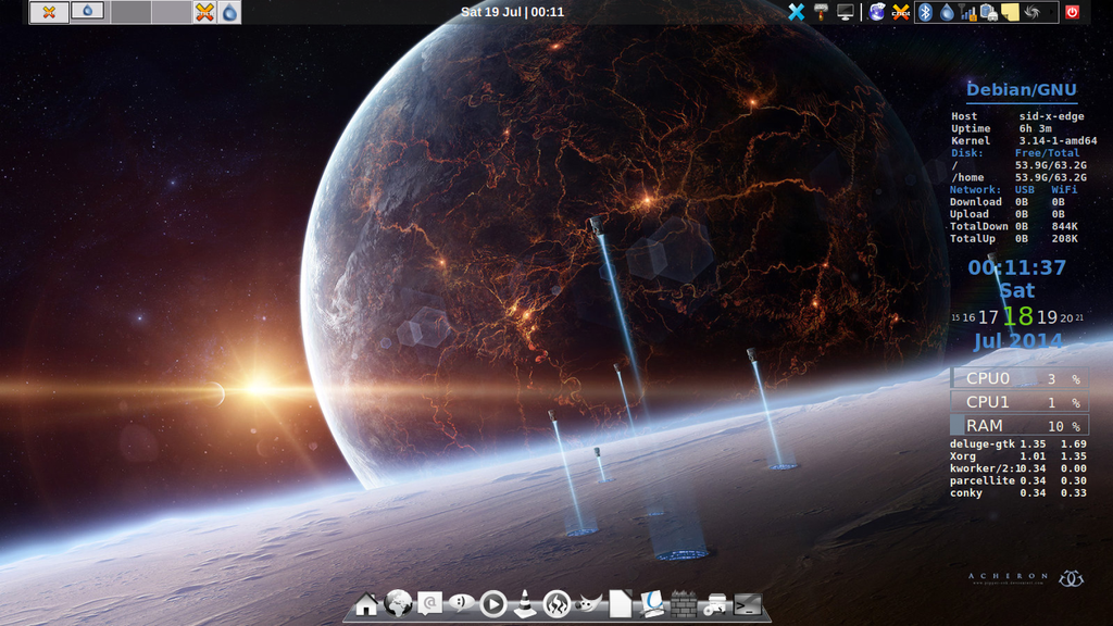 Debian-Sid (Sparky) with Xfce-4.12 by vrkalak