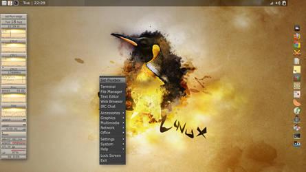 Debian-Sid Fluxbox by vrkalak