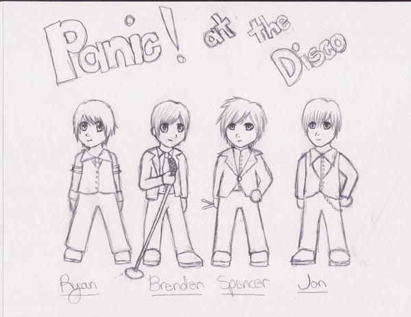 Panic At The Disco Coloring Sketch Page