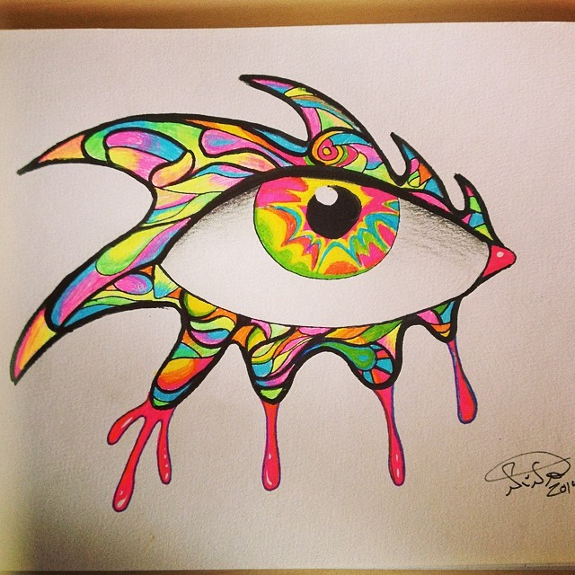 Neon eye by ImagiNina