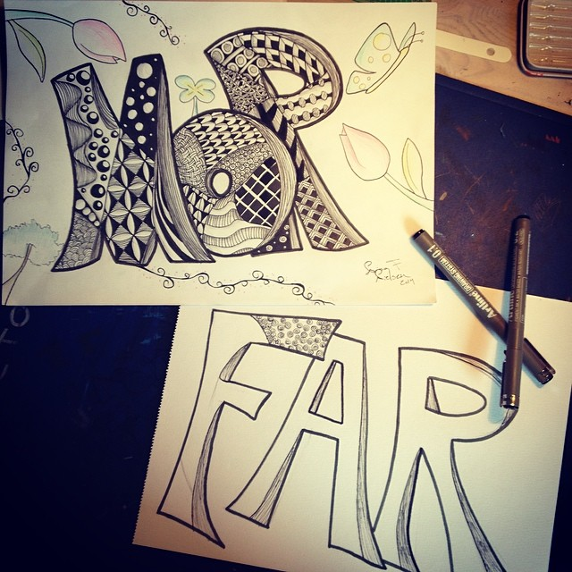 zentangle stuffs by ImagiNina