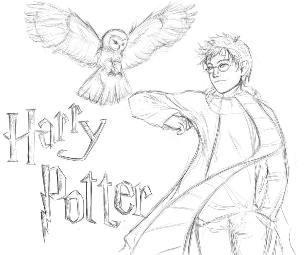 It's just a photo of Breathtaking Harry Potter Simple Drawing