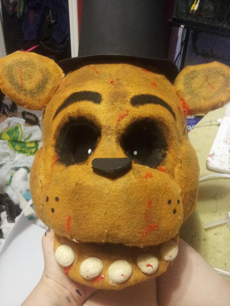Golden freddy cosplay head by cannibalvegan on deviantart