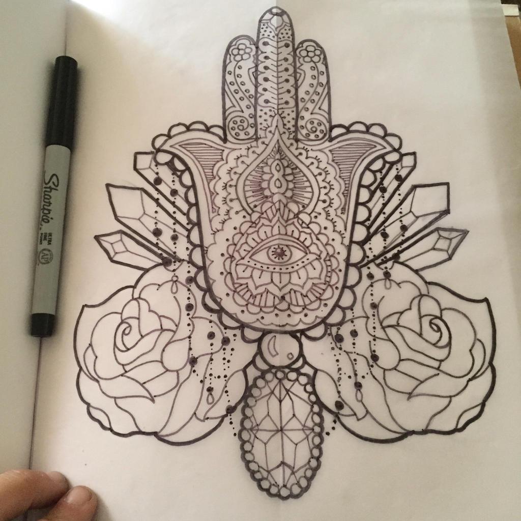 Hand Of Fatima Tattoo: Hand Of Fatima Tattoo Design By Kitschykatze On DeviantArt