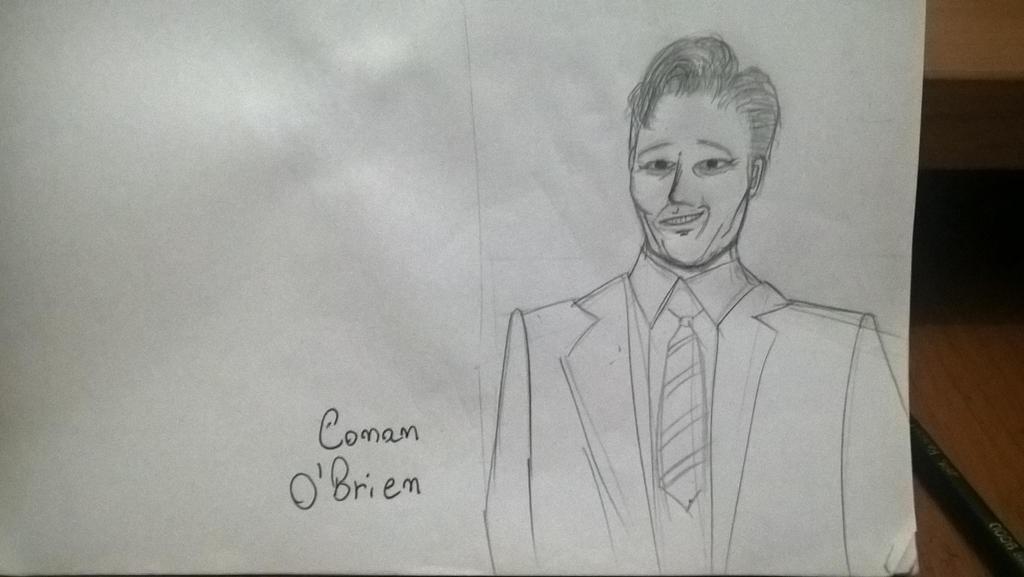 Quick sketch - Conan O' Brien by Rafagafanhotobra