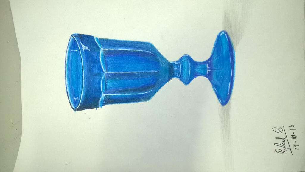 Hand Drawing - Colored Glass Cup by Rafagafanhotobra