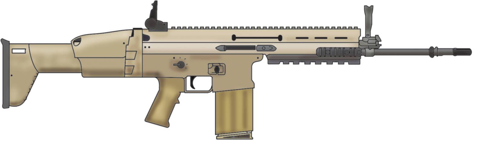 FN Scar-H by Ch42K on DeviantArt