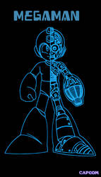 Artsy Videogame Posters: Megaman by Bongwater-bandit