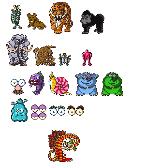 Mother SNES - Zoo and Magicant Enemies by Bongwater-bandit