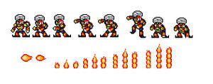 Wily Wars Flame Man