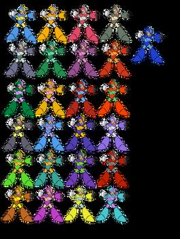 Mega Man X Weapon Colors (X1-X3)
