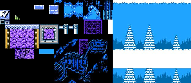 Mega Man 7 NES - Freeze Man Tileset