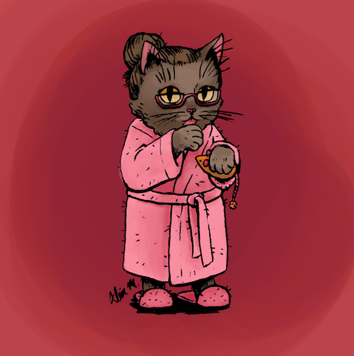 174-Cat Lady by Alia-Moosvi