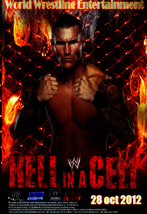 WWE Hell in a Cell 2012 Custom Made Poster by samorai94