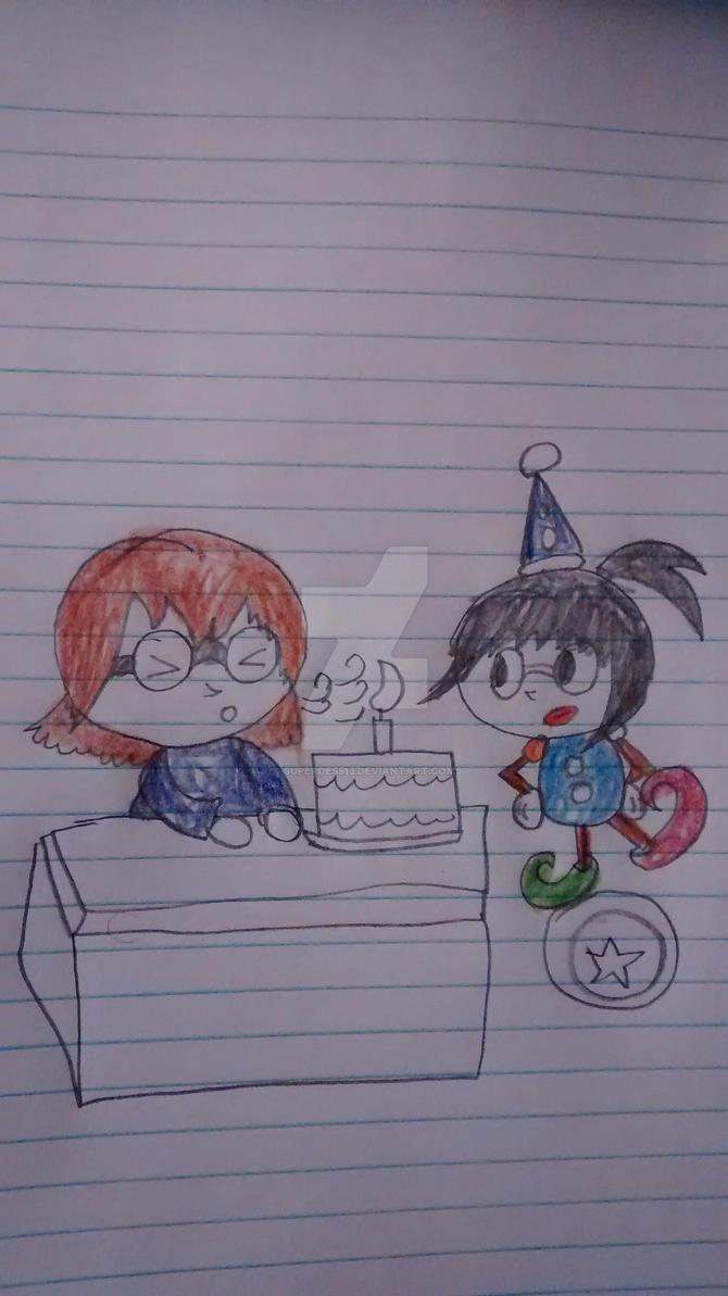 Happy birthday thevideogametickler1 by superdes513