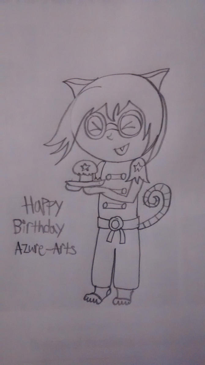 A Birthday Sketch for Azure-Arts by superdes513