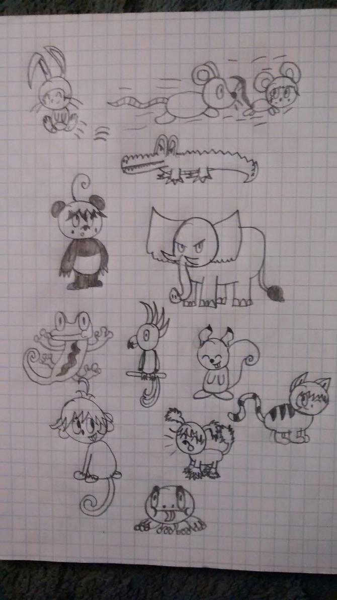 Animal doodle 1 by superdes513