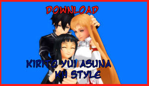 KH Style Yui, Asuna, Kirito DOWNLOAD by VirtuousNamine