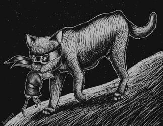 Teenage Mutant Ninja Cat by redrockwildcat