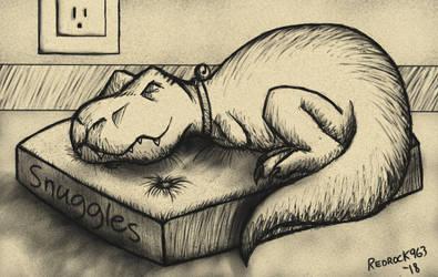 Snuggles the Sleeping DIno by redrockwildcat