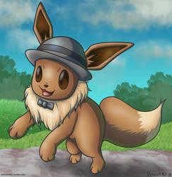 Pokemon Let's Go Eevee Veevee Volley by redrockwildcat