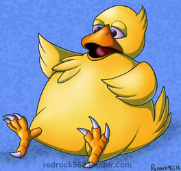 Fat Chocobo - Commission by redrockwildcat