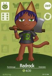 Redrock Animal Crossing Card