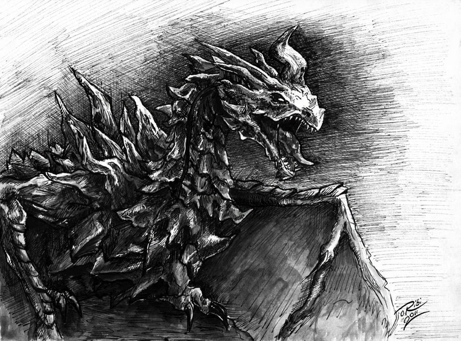Sryrim Dragon Alduin by oribi