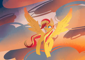 Alicorn Sunset Shimmer by Trainerfairy